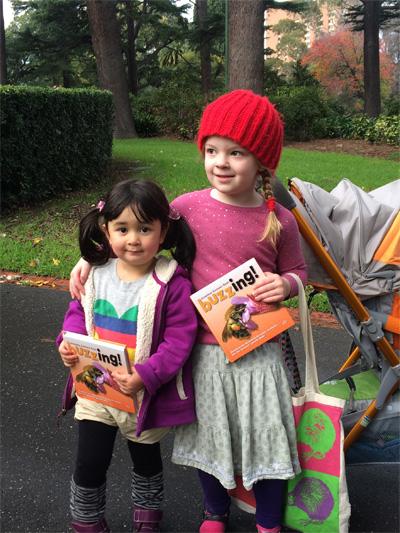 Amelia and Mia buzzing in Melbourne, Australia
