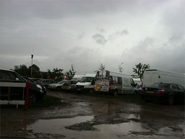 The Hay Festival artists' car park