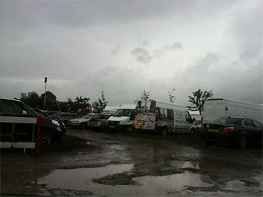 The Hay Festival artists' car park