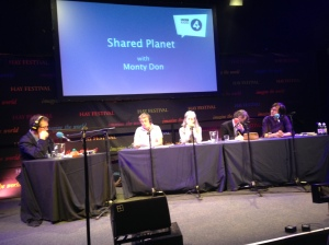Recording Shared Planet at the Hay Festival
