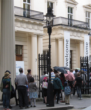 Queuing to get into the Royal Society Summer Science Exhibition, July 2014