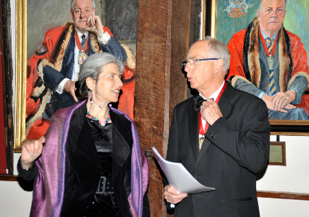 With Governors past and present at the Merchant Adventurers' Michaelmas Feast 2014