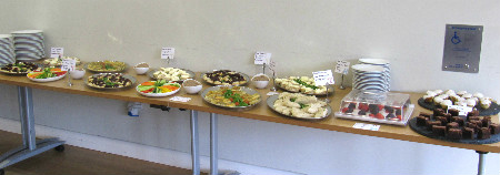 Delicious locally sourced and produced buffet