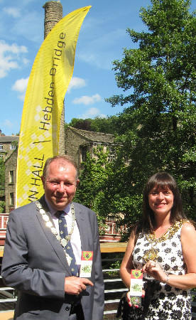 Mayor of Calderdale Cllr Lisa Lambert and her consort, Mr Ken Lambert