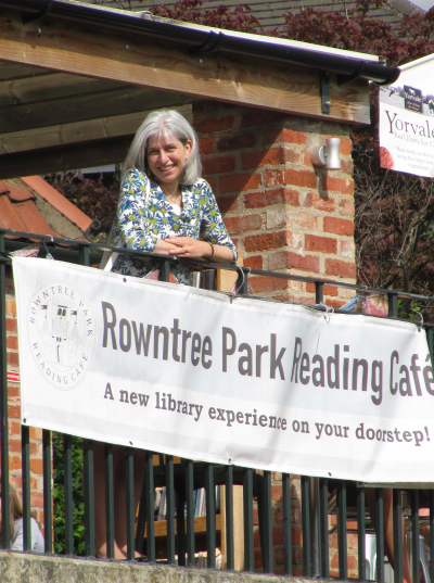 On the balcony of Rowntree Park Reading Café