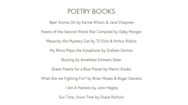 minibeast poetry