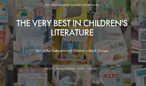 North Somerset Teachers' Book Award website screenshot