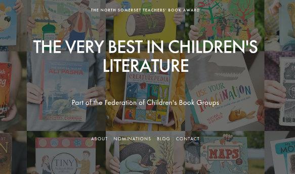 North Somerset Teachers' Book Award website screenshot