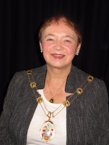 The Mayor of Malton, Cllr Joan Lawrence, at the 2015 P Factor Grand Final.