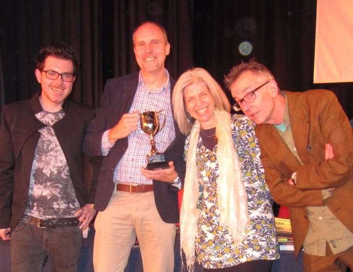 The 2015 P Factor judges - Steven Nash, Andy Seed, me and John Hegley