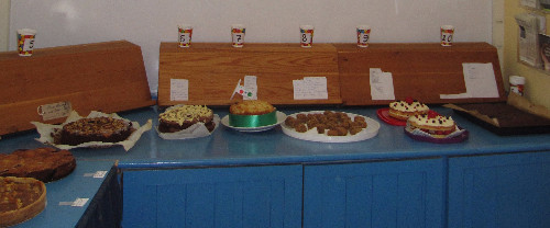 Some of the entries in the cake competition