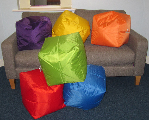 The new seat cubes at Tang Hall Community Centre