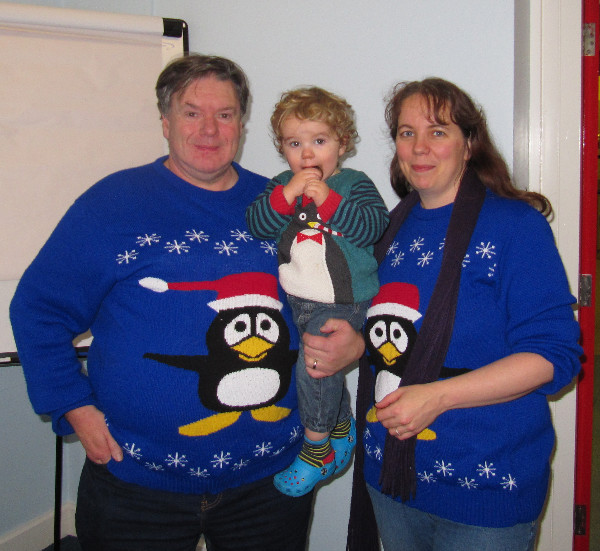 The best family Christmas jumpers I have encountered!