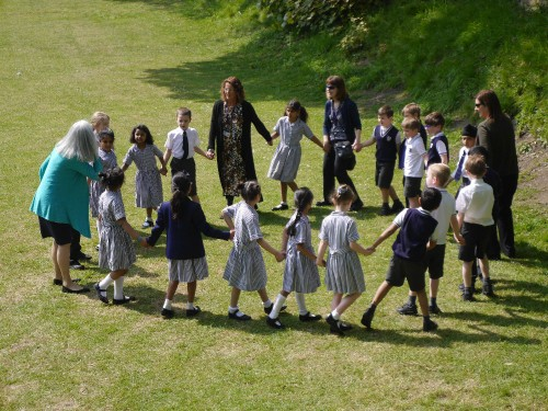 Outdoors with Year 2 at Rose Court