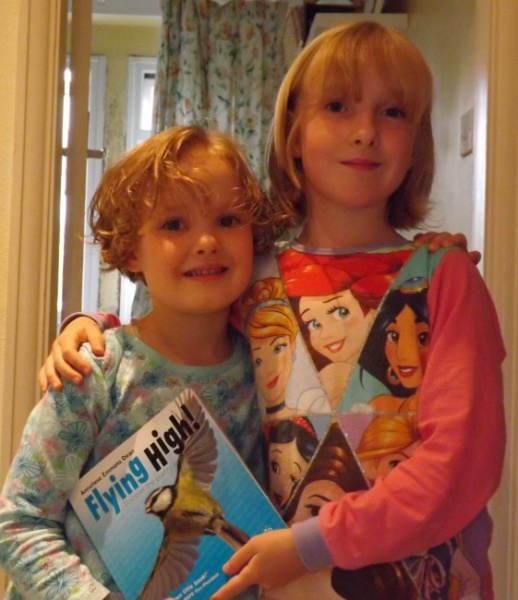Aileen and Giulia with their copy of Flying High!