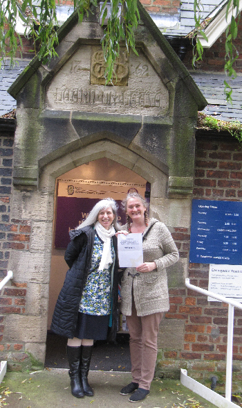 With Jess, Treasure found, outside Easingwold Community Library