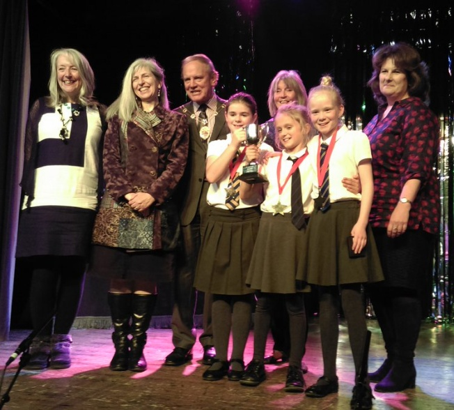 The Langton School winners of the P Factor 2017 - with the Mayor of Malton and a gaggle of poets