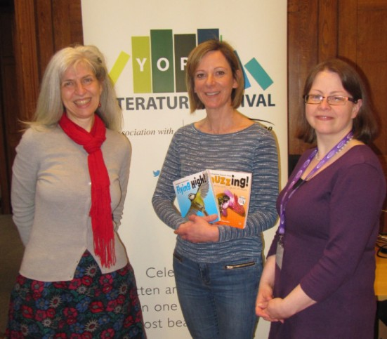 With the (ever helpful) York Literature Festival volunteer staff