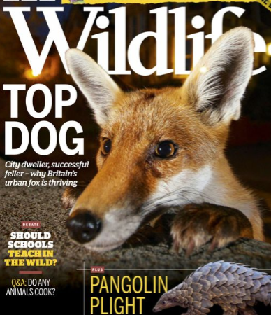 BBC Wildlife Magazine cover March 2020